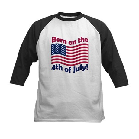 Born on July 4th Kids Baseball Jersey