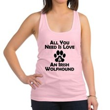 Love And An Irish Wolfhound Racerback Tank Top
