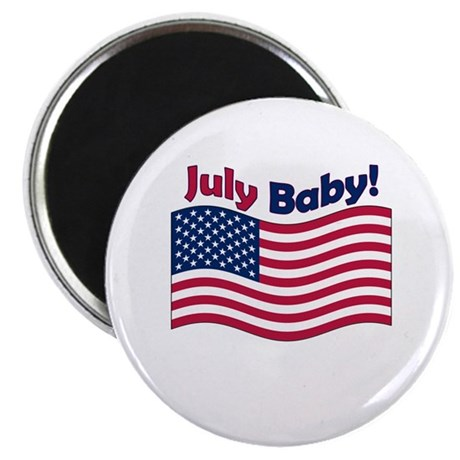 "July Baby 2.25"" Magnet (100 pack)"