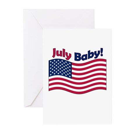 Patriotic July Baby Shower Invite (Pk of 10)