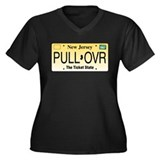 Pull Over Women's Plus Size V-Neck Dark T-Shirt