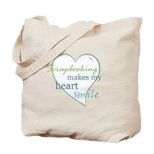 Scrapbooking makes my heart smile Tote Bag