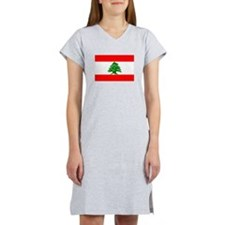 Lebanon Flag Women's Nightshirt