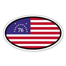 Spirit of '76 Flag Oval Oval Decal