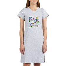 Peace Love Knitting Women's Nightshirt