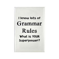 Grammar Rules Rectangle Magnet