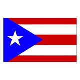 Puerto Rican Flag Rectangle Bumper Stickers