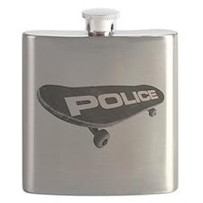 Skateboard Police Flask