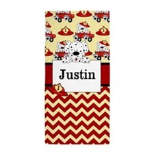 Fireman Dalmatians Personalized Beach Towel
