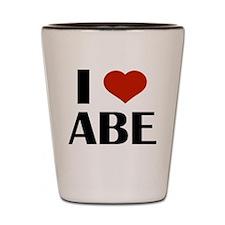 I Heart Abe Shot Glass