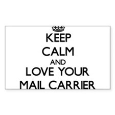 Keep Calm and Love your Mail Carrier Decal