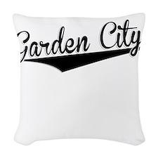 Garden City, Retro, Woven Throw Pillow