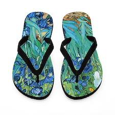 Van Gogh Garden Irises Flip Flops