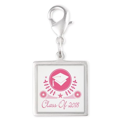 Class of 2018 Silver Square Charm