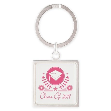 Class of 2019 Square Keychain