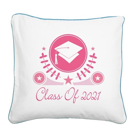 Class of 2021 Square Canvas Pillow