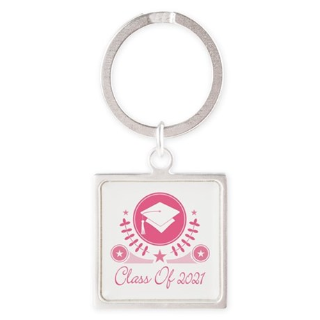 Class of 2021 Square Keychain