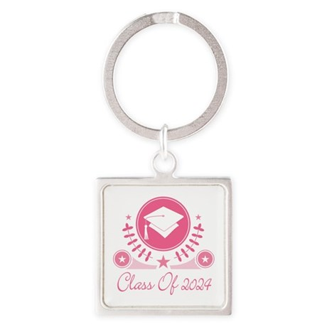 Class of 2024 Square Keychain