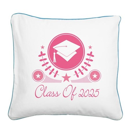 Class of 2025 Square Canvas Pillow