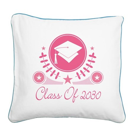 Class of 2030 Square Canvas Pillow