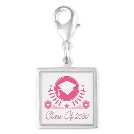Class of 2030 Silver Square Charm