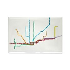 "Chicago ""L"" Map Rectangle Magnet"