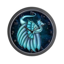 Harvest Moons Crystal Dragon Wall Clock