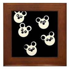 Panda party Framed Tile