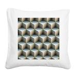 Ambient Cubes Square Canvas Pillow