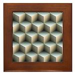 Ambient Cubes Framed Tile