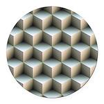 Ambient Cubes Round Car Magnet