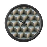 Ambient Cubes Large Wall Clock