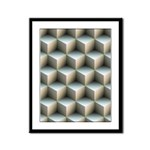 Ambient Cubes Framed Panel Print