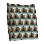 Ambient Cubes Burlap Throw Pillow