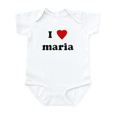 I Love maria Infant Bodysuit