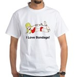 Bondage Lover White T-Shirt