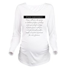 1st Amendment Long Sleeve Maternity T-Shirt