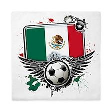 Soccer fans Mexico Queen Duvet