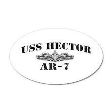 USS HECTOR 20x12 Oval Wall Decal