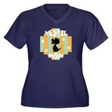 Westie Mom Women's Plus Size V-Neck Dark T-Shirt