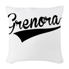 Grenora, Retro, Woven Throw Pillow
