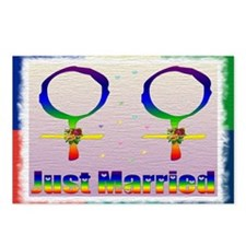 Just Married Lesbians Postcards (Package of 8)