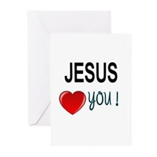 Jesus loves you Greeting Cards