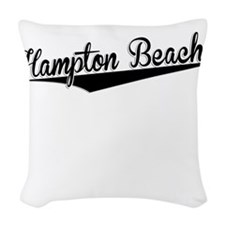 Hampton Beach, Retro, Woven Throw Pillow