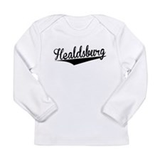 Healdsburg, Retro, Long Sleeve T-Shirt