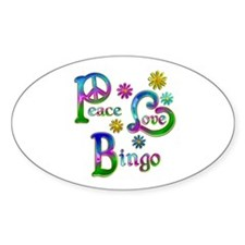 Peace Love Bingo Decal