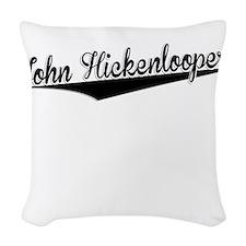 John Hickenlooper, Retro, Woven Throw Pillow