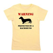 Protected By A Dachshund Girl's Tee