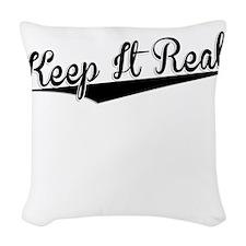 Keep It Real, Retro, Woven Throw Pillow
