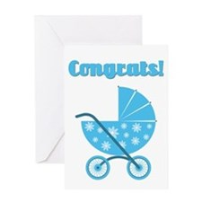 Congrats! Boy Card (blank Inside) Greeting Cards
